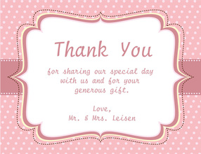 Proper Wording For Wedding Gift Thank You Cards : Thank You Cards Wedding Wording New Calendar Template Site